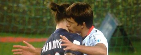 VIDEO : le bisou de Civelli à Ibrahimovic
