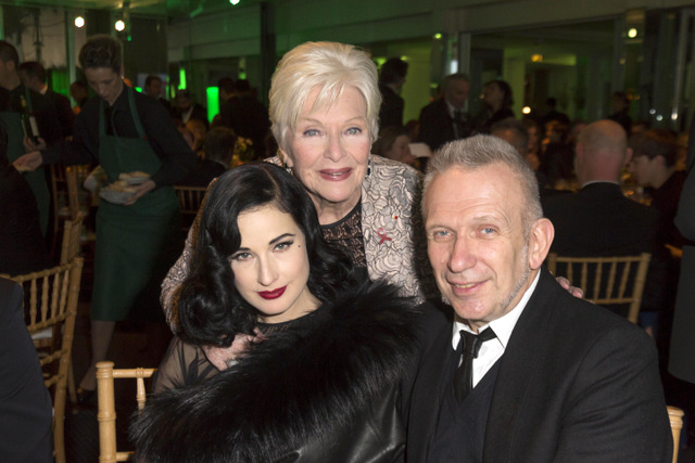 Dita Von Teese Line Renaud et Jean Paul Gaultier au diner de la