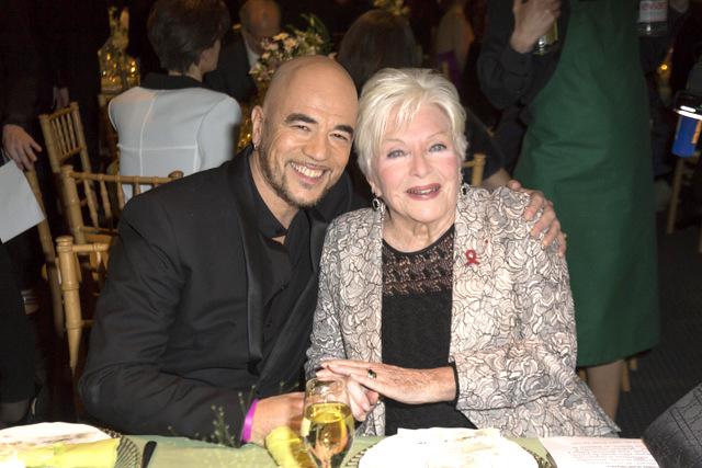 Pascal Obispo et Line Renaud au diner de la mode 2014 - Sidactio