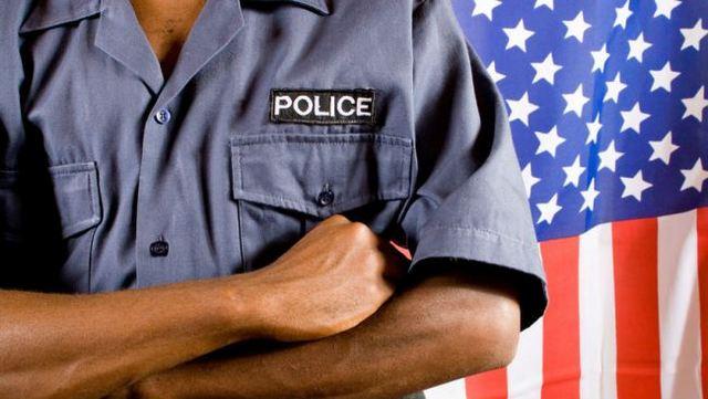 black-police-man