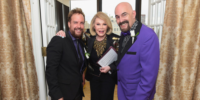 """Joan Rivers Officiates The Gay Wedding Of Joseph Aiello And William """"Jed"""" Ryan In New York City"""