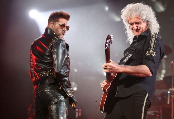 SYDNEY, AUSTRALIA - AUGUST 26: Adam Lambert and Brian May of QUEEN and Adam Lambert perform on stage during QUEEN'S first tour of Australia since 1985 at Allphones Arena on August 26, 2014 in Sydney, Australia. (Photo by Mark Metcalfe/Getty Images)