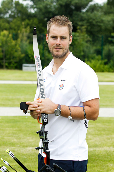 Jean Charles Valladont of France during press conference and photo shooting of the french team of archery for Olympic Games Rio 2016 at INSEP on June 30, 2016 in Vincennes, France. (Photo by Johnny FIdelin/Icon Sport) (Photo by Icon Sport/Icon Sport via Getty Images)
