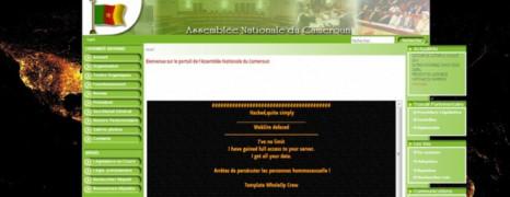 Le site de l'assemblée nationale du Cameroun piraté par des gays