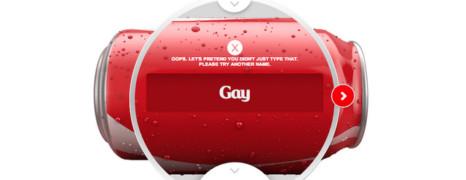 Le mot gay interdit sur les canettes Coca