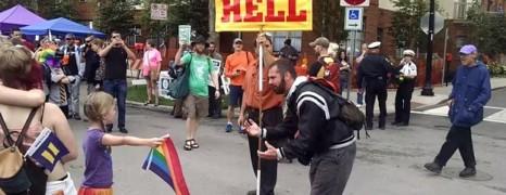 La vidéo de la fillette et l'opposant au mariage gay