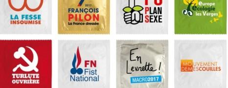 Des préservatifs à l'effigie des candidats à la Présidentielle