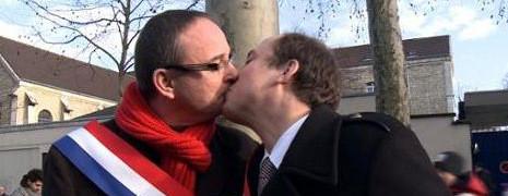 Mariage gay : le bisou des députés