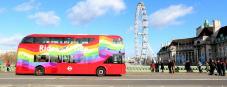 Un bus couleurs LGBT pour Londres