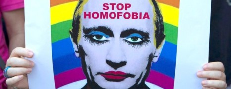Moscou interdit une photo de Poutine en clown gay