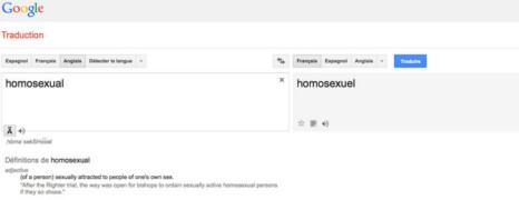 Google Translate n'associe plus gay avec des insultes homophobes