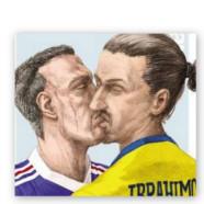 Quand Ribéry et Ibrahimovic s'embrassent