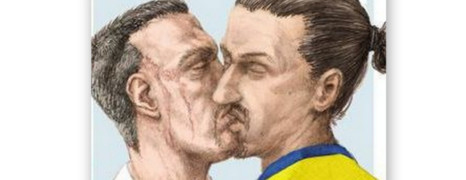 Quand Ribéry et Ibrahimovic s'embrassent