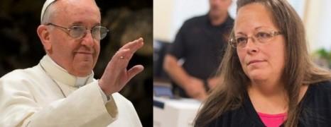La rencontre secrète entre le pape et la greffière anti-mariage gay