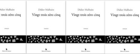 Vingt trois zéro cinq de Malhaire Prix du roman gay 2017