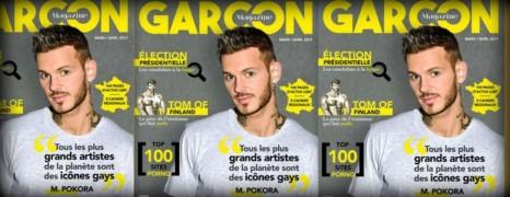 M Pokora en couverture de Garçon Magazine