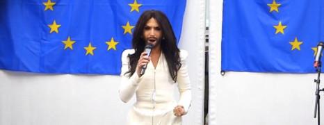 Conchita Wurst devant le Parlement européen