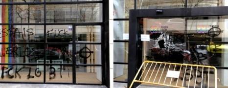 Les centres LGBT de Barcelone et Rome vandalisés