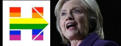 Hillary met son logo de campagne aux couleurs gay