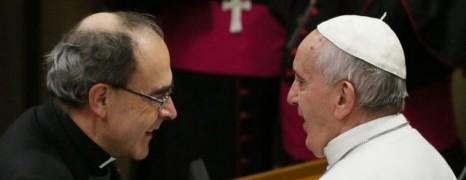 Le cardinal Barbarin reçu par le pape François