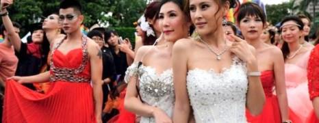 Rassemblement en faveur du mariage gay à Taipei
