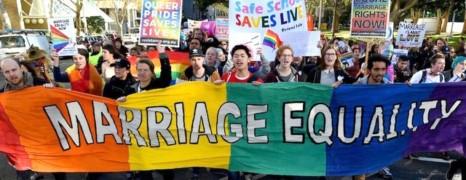 Les Australiens manifestent pour le mariage gay