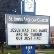 Photo : l'Eglise anglicane répond aux anti-mariage gay