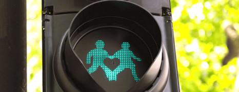 Des feux de signalisation LGBT à Londres