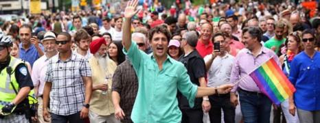 Le Premier ministre canadien à la Gay Pride de Montréal